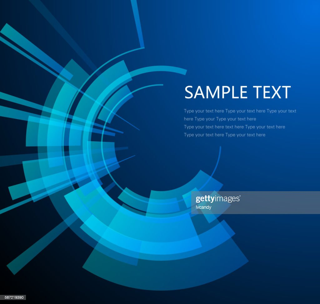 Technology circular background : stock illustration