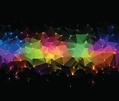 Technology concept abstract polygonal background