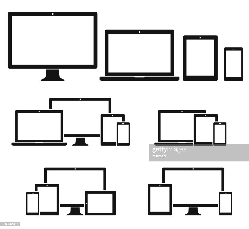 Technologie apparaten pictogramserie : Stockillustraties