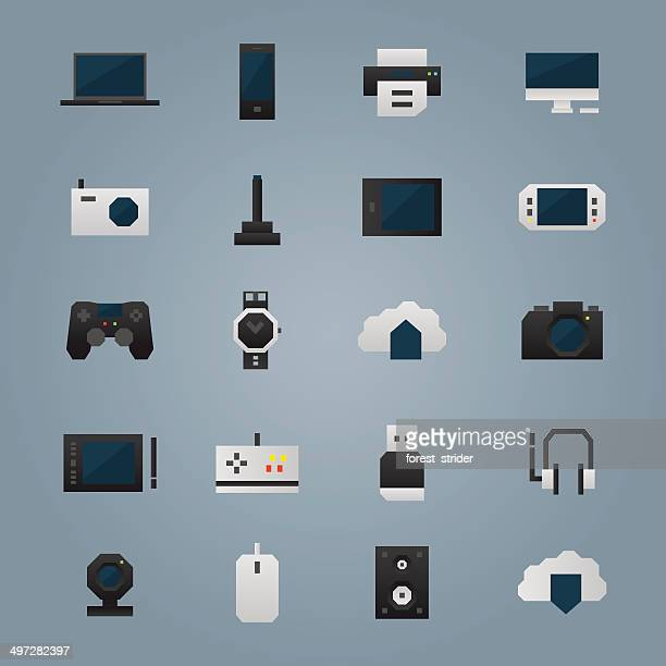 Technology devices icons