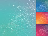 Technology digital network background