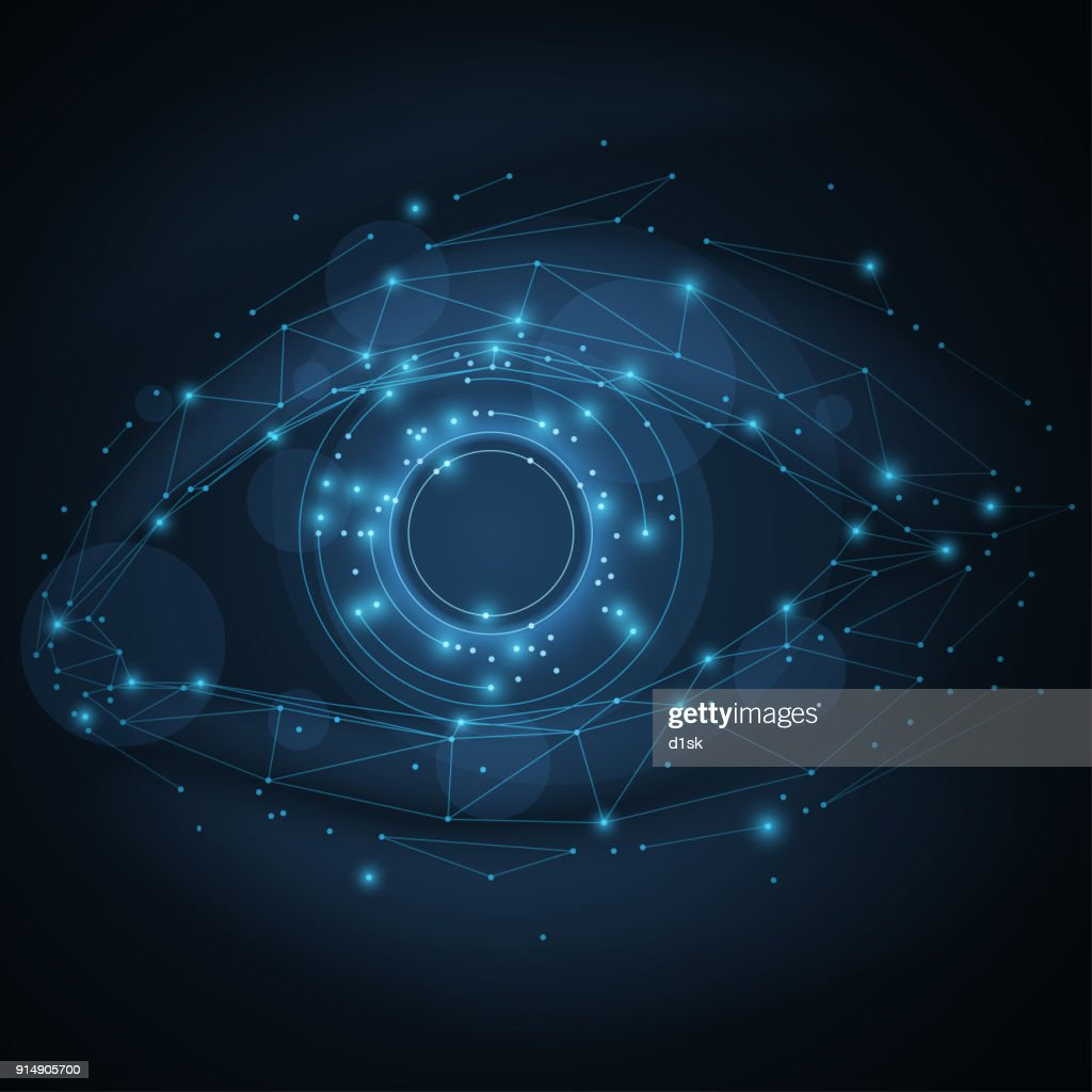 Technology eye illustration