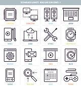 Technology Gadgets Icon Set