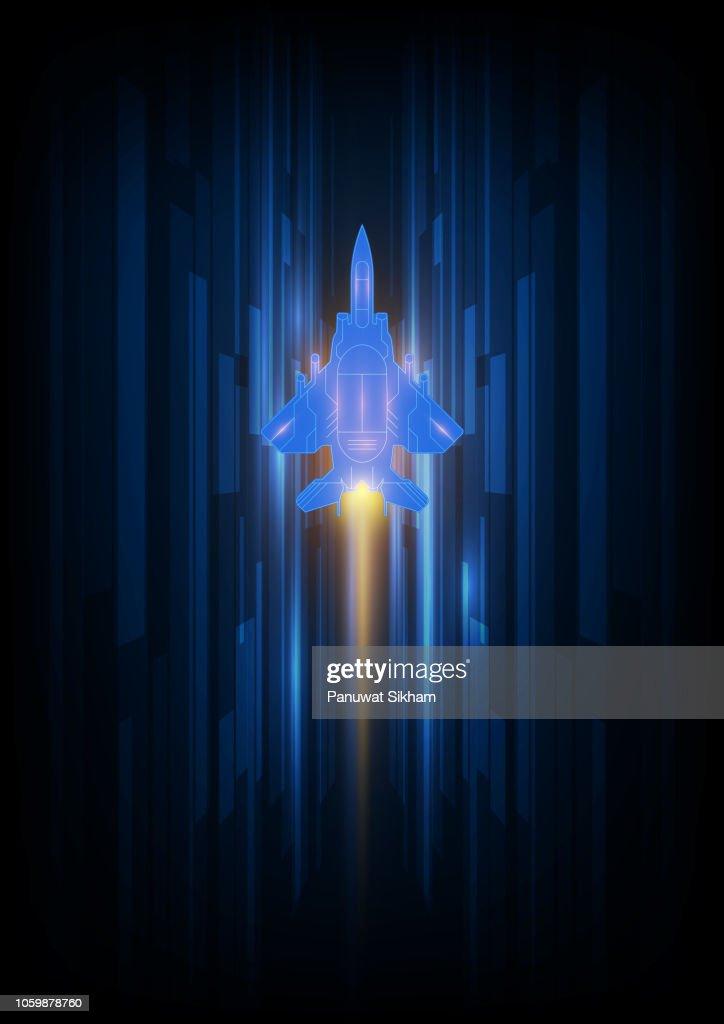 technology  High speed concept. Fighter jet concept . vector illustration background