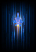 technology  High speed concept. Fighter jet concept . vector illustration background