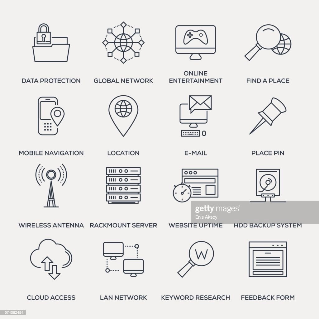 Technology Icon Set - Line Series