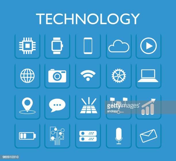 technology icons illustration - sensor stock illustrations, clip art, cartoons, & icons