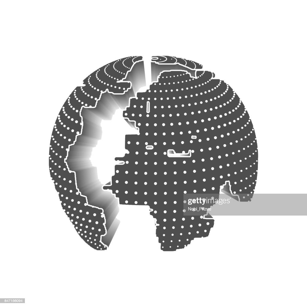 Technology Image Of Globe Vector Art | Getty Images