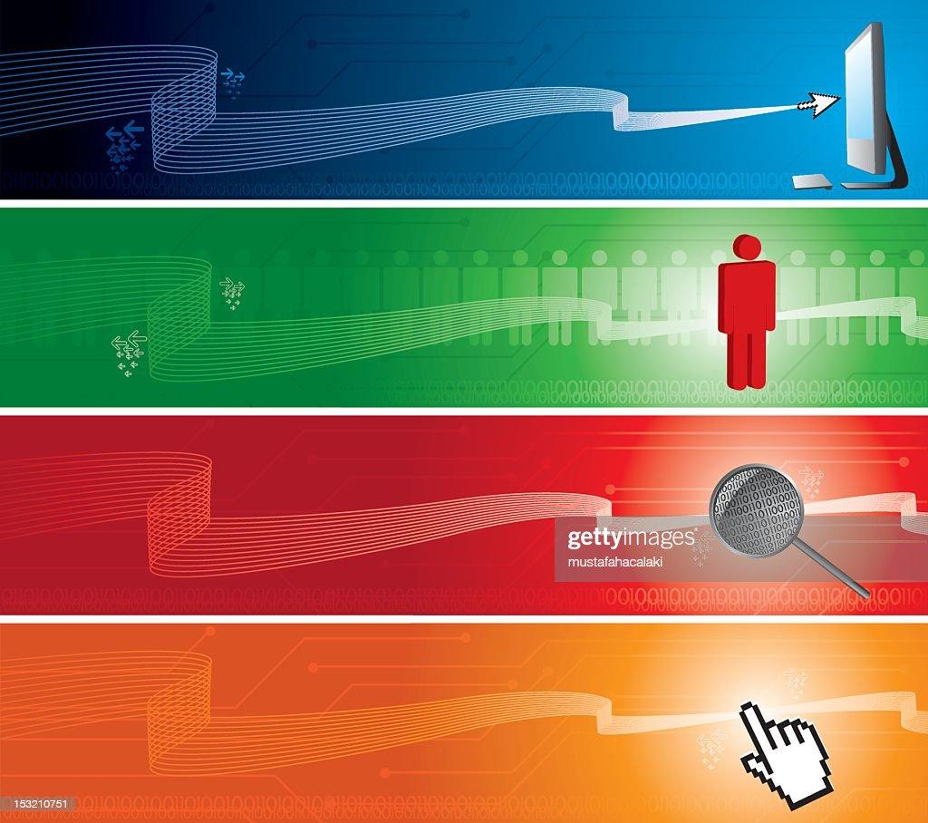 Technology internet banners : Vector Art