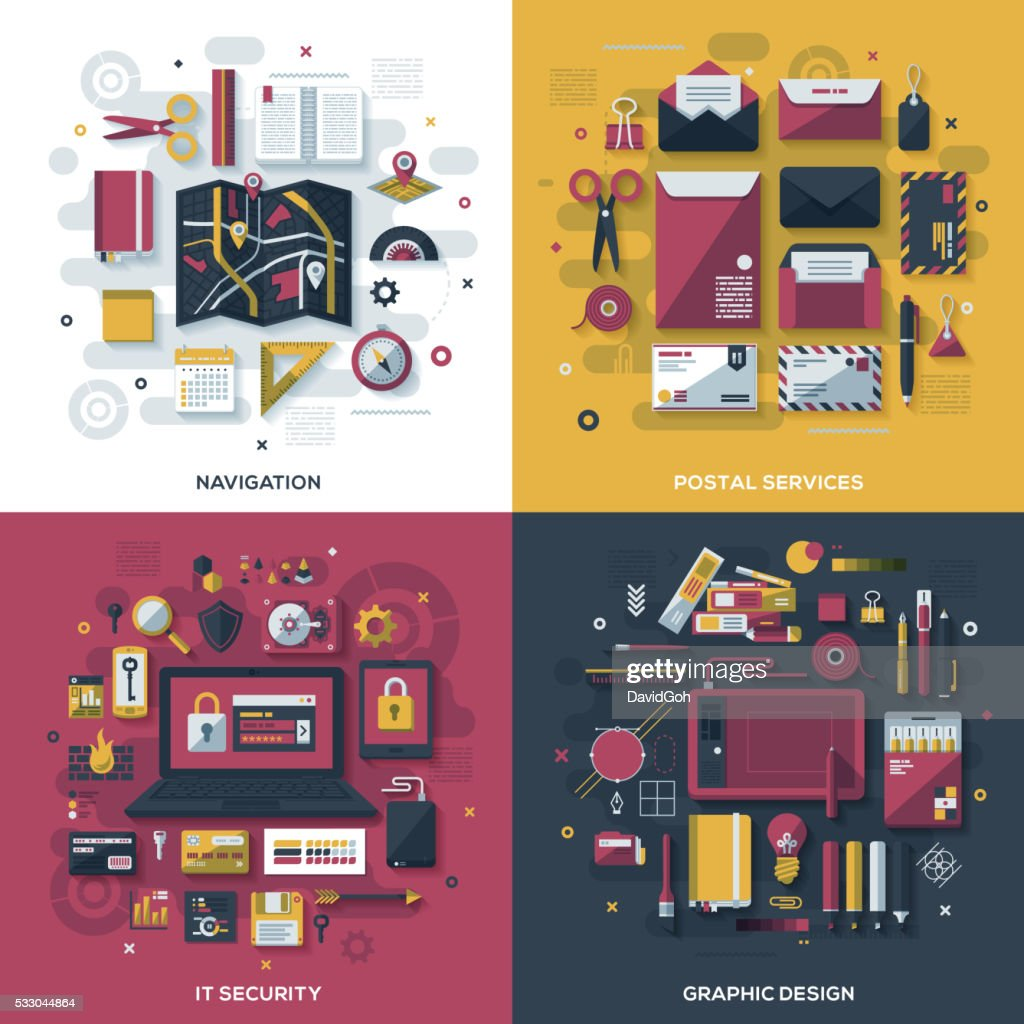 Technology Services Flat Design Concepts