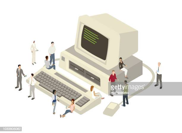 Technology team illustration