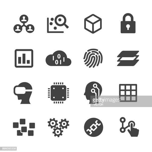 technology trend icons - acme series - verification stock illustrations, clip art, cartoons, & icons