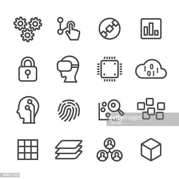 Technology Trend Icons - Line Series
