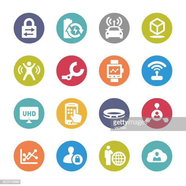 technology trends for business icons - circle series - sensor stock illustrations, clip art, cartoons, & icons
