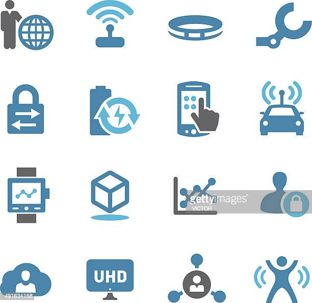 technology trends for business icons - conc series - sensor stock illustrations, clip art, cartoons, & icons