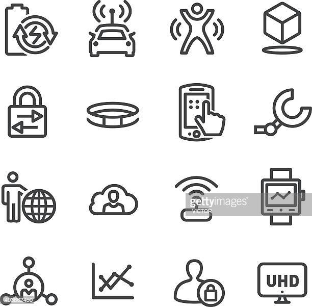 Technology Trends For Business Icons - Line Series