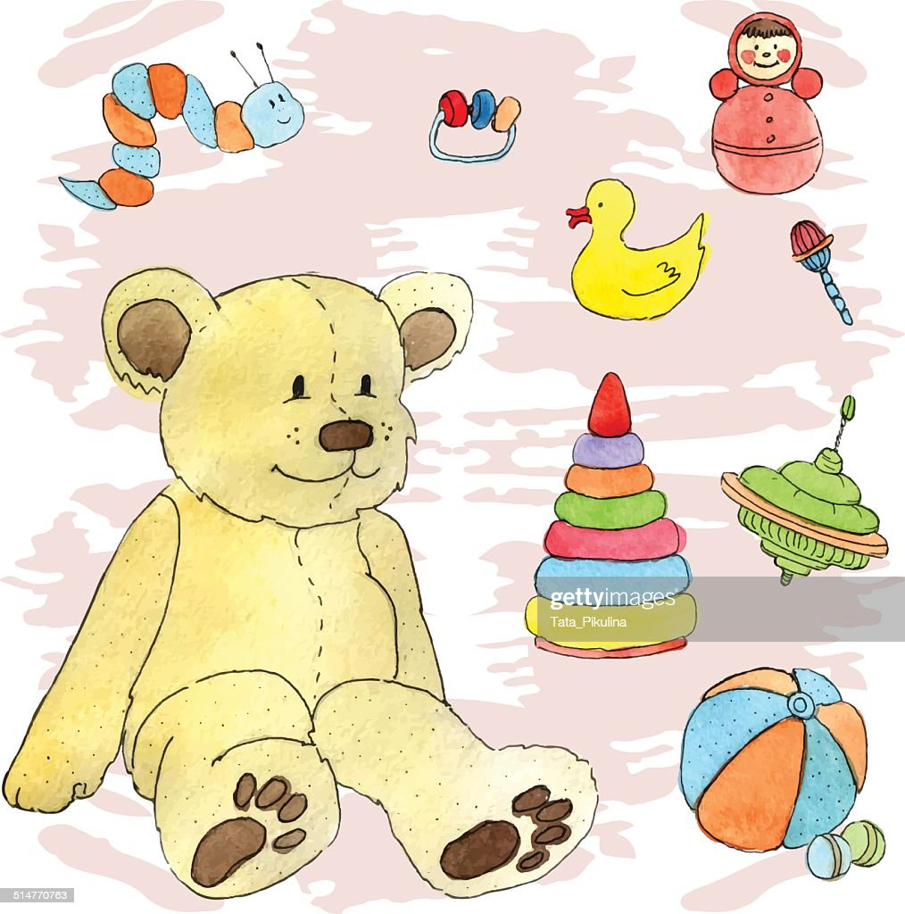 Teddy bear and other toys