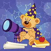 teddy bear astronomer