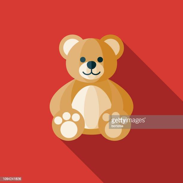 teddy bear children's toy icon - bear stock illustrations