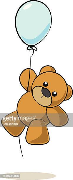 Teddy Bear Hanging from a Balloon