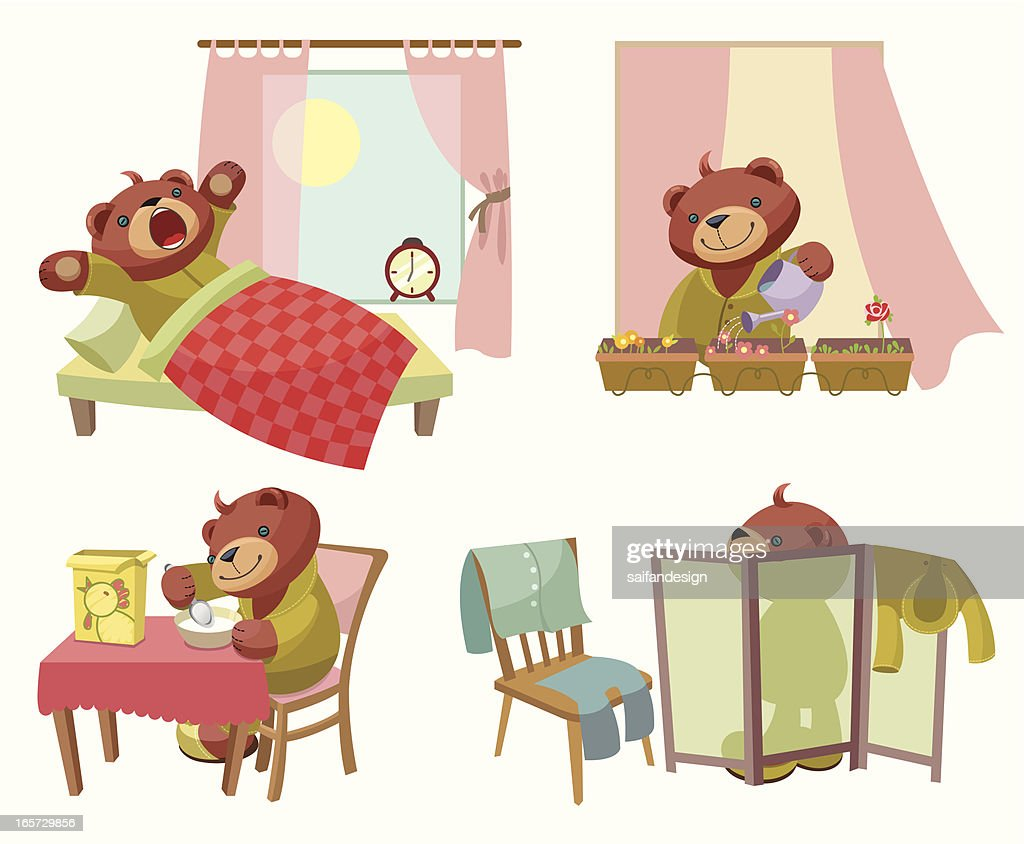Teddy Bear series: Weekday : stock illustration