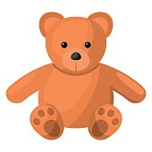 Teddy colorful icon