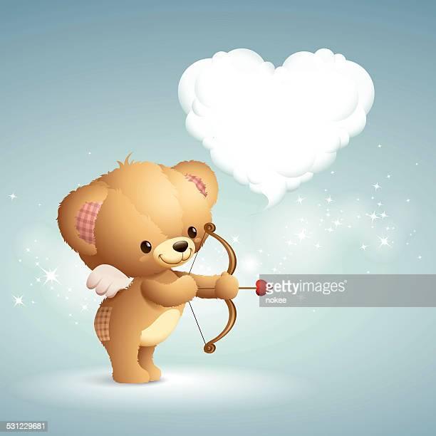 teddy-cupid - cupido stock illustrations