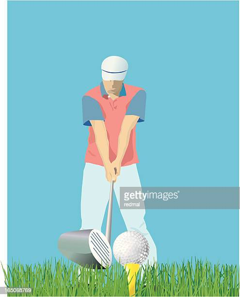 tee offf - teeing off stock illustrations, clip art, cartoons, & icons