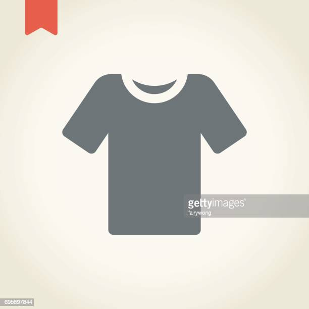 tee shirt icon - t shirt stock illustrations, clip art, cartoons, & icons