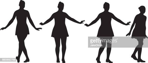Teen Girls Dancing Silhouettes