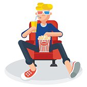 teen in cinema