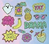 Teen stickers set