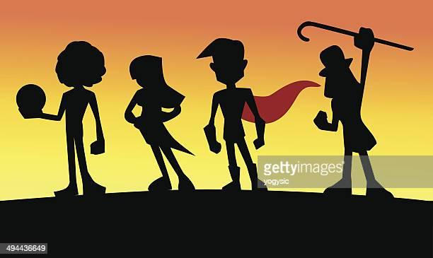 teen superstars - actor stock illustrations, clip art, cartoons, & icons