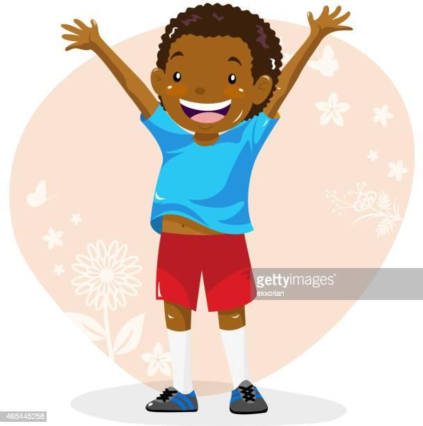 illustrations, cliparts, dessins animés et icônes de adolescents garçons joyeux jusqu'au printemps - jeunes garçons