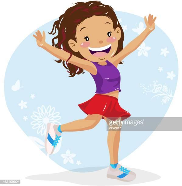 ilustraciones, imágenes clip art, dibujos animados e iconos de stock de adolescente mano para que disfrute de la naturaleza - baile moderno
