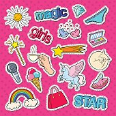 Teenage Girl Style Stickers, Patches and Badges