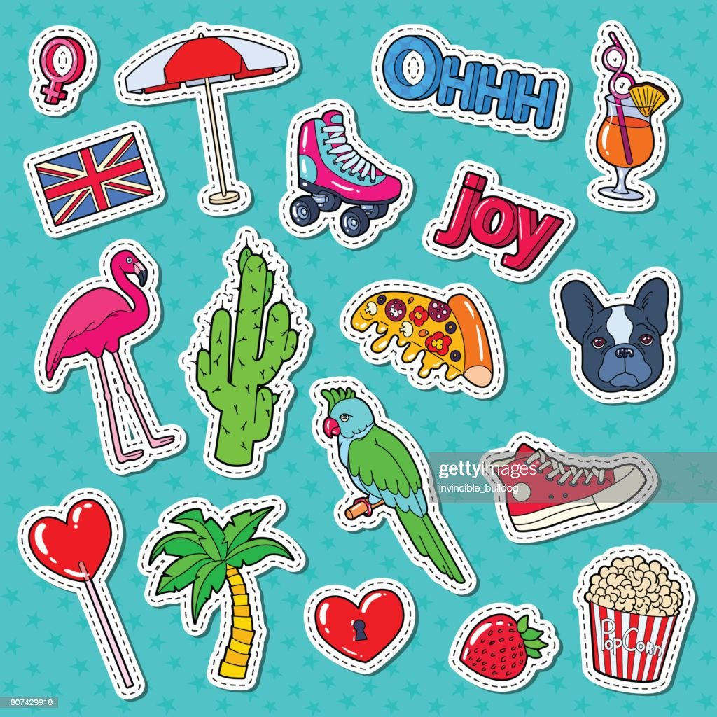 Teenager Fashion Lifestyle Stickers, Badges