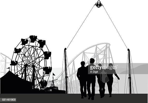 teenagers - carnival ride stock illustrations, clip art, cartoons, & icons