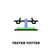 Teeter Totter Line Icon