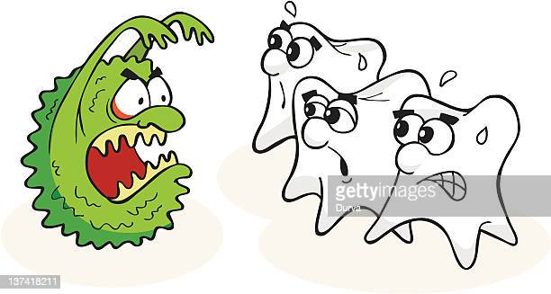 teeth and caries - toothache stock illustrations, clip art, cartoons, & icons