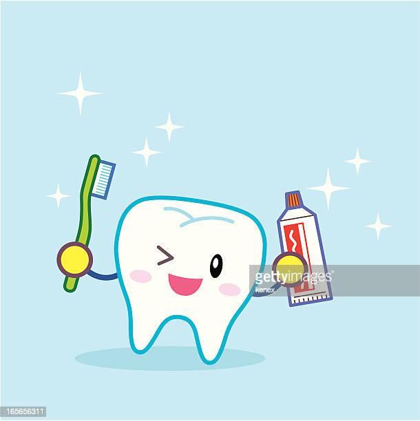 ilustraciones, imágenes clip art, dibujos animados e iconos de stock de dientes de limpieza - dientes humanos