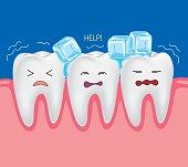 Teeth with ice