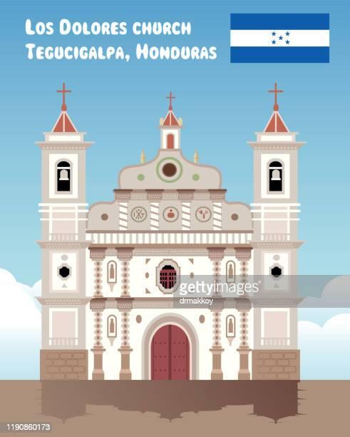 ilustraciones, imágenes clip art, dibujos animados e iconos de stock de tegucigalpa, honduras, los dolores church - honduras