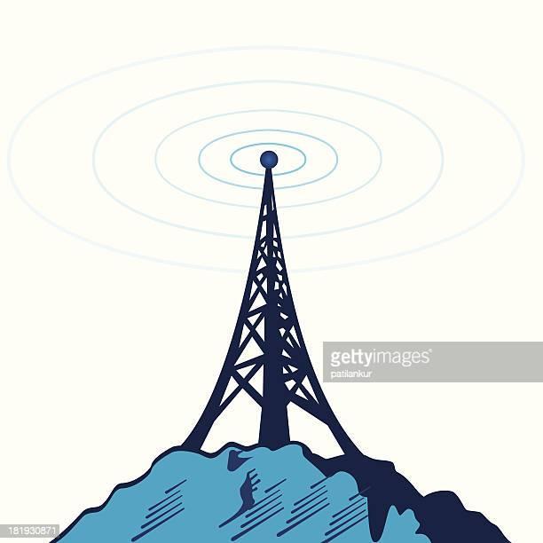 telecommunication tower - antenne stock-grafiken, -clipart, -cartoons und -symbole