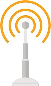 Telecommunications radio antenna tower or mobile phone base station with