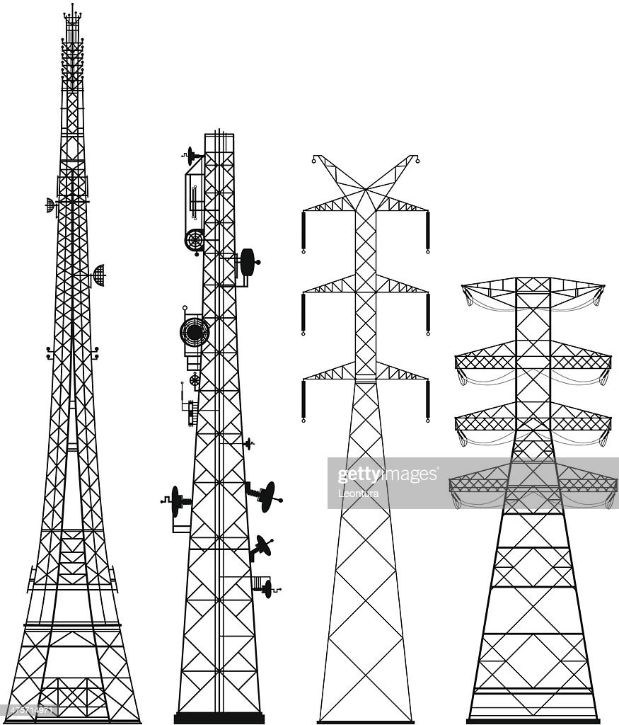 Telecommunications Towers Vector Art Getty Images