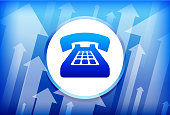 Telephone Blue Up Arrows Background