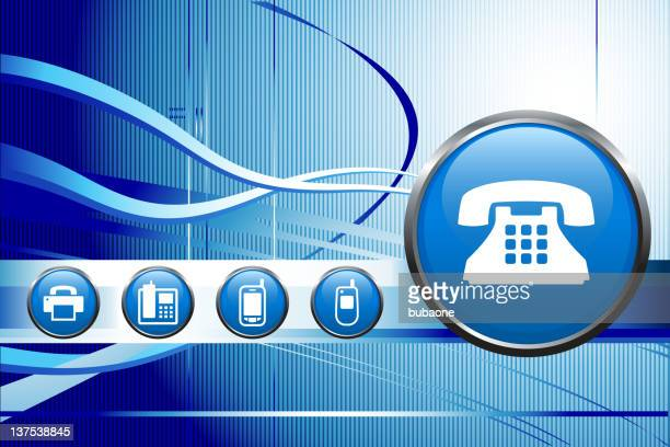 telephone equipment royalty free vector art background - answering machine stock illustrations, clip art, cartoons, & icons