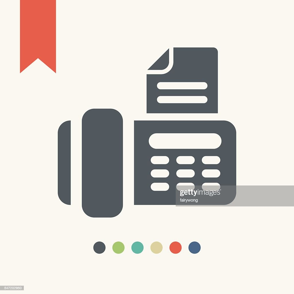 Telephone fax icon