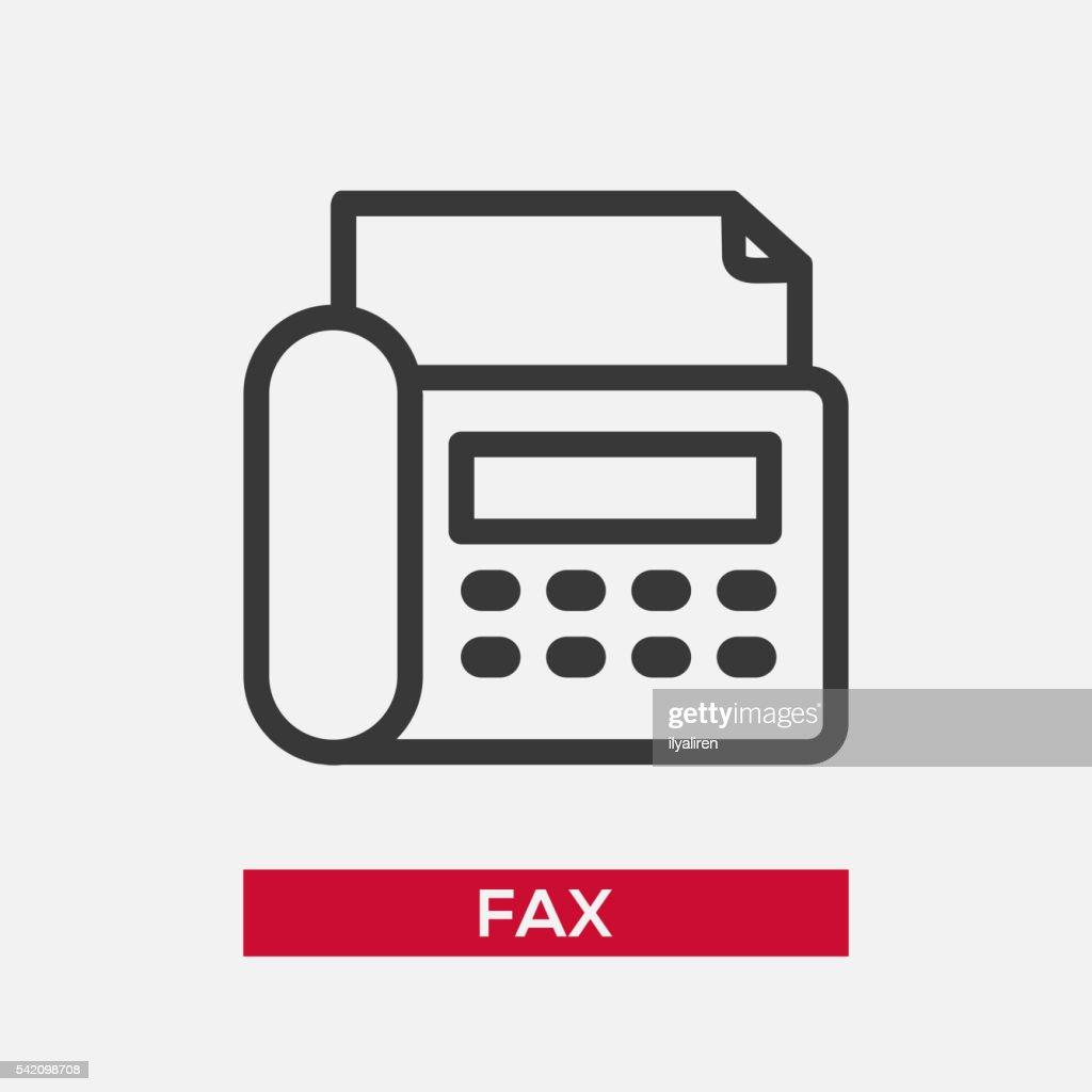 Telephone Fax single icon
